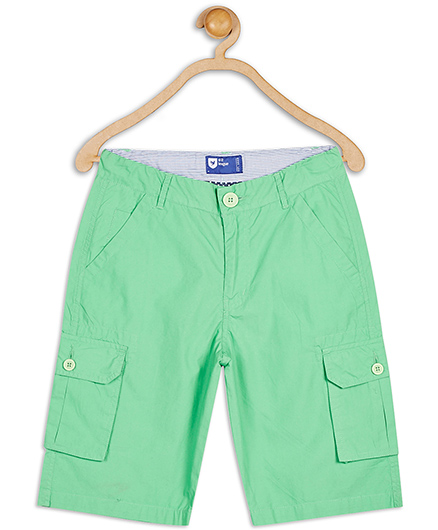 612 League Cotton Knee Shorts Solid Color - Green