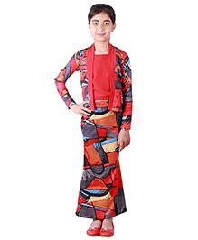 Hugo Chavez Printed Long Skirt - Multicolor