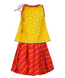 Twisha Long Top With Skirt - Yellow