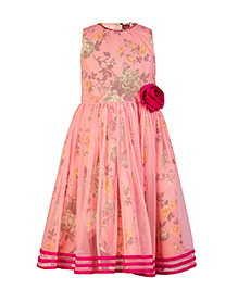 Twisha Beautiful Calf Length Party Dress - Peach