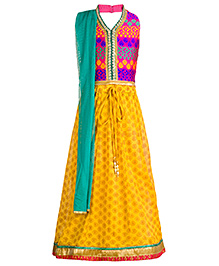 Twisha Stylish Lehanga Choli Dupatta Set - Mustard Yellow