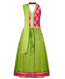 Twisha Trendy Lehanga Choli Dupatta Set- Mint Green