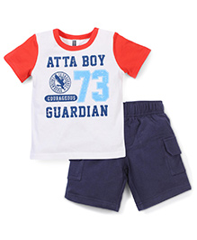 Candy Rush Atta Boy Print T-Shirt & Shorts Set - Blue