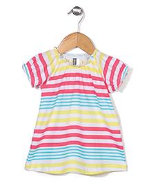 Wonderchild Stylish Stripe Dress - Multicolor