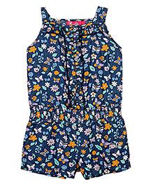 Barbie Singlet Floral Print Jumpsuit - Blue
