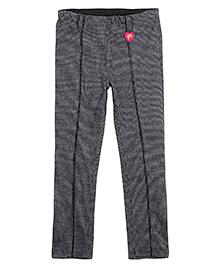 Barbie Jeggings Tweed and Logo Print - Dark Grey