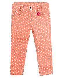 Barbie Polka Dots Slim Fit Capri - Coral