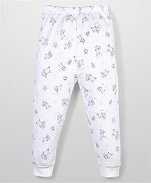 Urban Fashion Animal Print Leggings - White