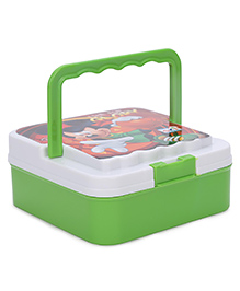 Mickey Mouse Time For Glory Print Tintin Lunch Box - Green