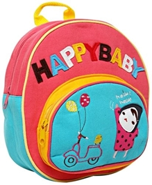 Fab N Funky Kids Bag - Happy Baby Print Pink
