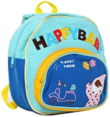 Fab N Funky Kids Bag - Happy Baby Print Sky Blue
