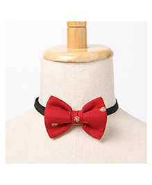 Brown Bows Butterfly Bow Tie - Red