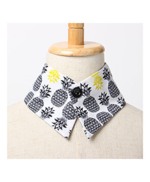 Brown Bows Collar Small - Black White