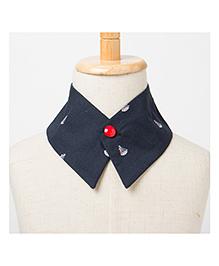 Brown Bows Collar Small - Navy