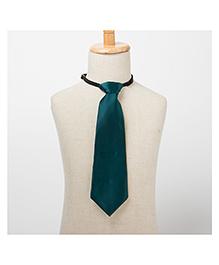 Brown Bows Plain Tie - Green