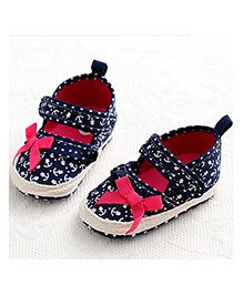 Princess Cart Hand Painted Mary Jane Shoes - Navy Blue