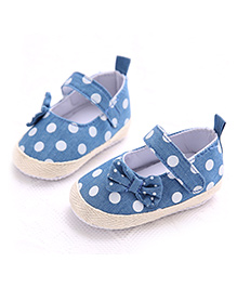 Princess Cart Polka Dot Print Shoes - Blue