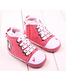Princess Cart High Top Sneakers - Coral Pink
