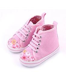 Princess Cart Sport High Top Sneakers - Pink