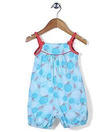 Beebay Singlet Jumpsuit Bow Applique - Turquoise Blue
