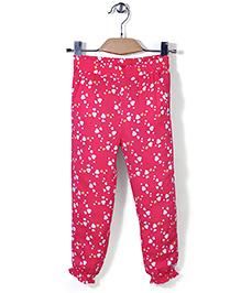Beebay  Full Length Harem Pants Hearts Print - Pink