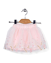 Little Coogie Embroidered Skirt - Pink