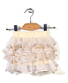 Little Coogie Stylish Frill Skirt - Cream