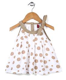Little Coogie Polka Dot Dress - White