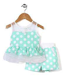 Little Coogie Polka Dot Top & Shorts - Blue