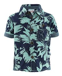 FS Mini Klub Half Sleeves Shirt - Blue Sea Green