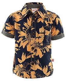 FS Mini Klub Half Sleeves Shirt - Blue Light Orange