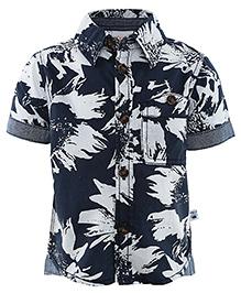FS Mini Klub Half Sleeves Shirt - Blue White