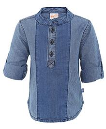 FS Mini Klub Full Sleeves Denim Shirt - Light Blue