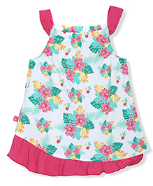 FS Mini Klub Singlet Printed Frock With Bloomer - Multicolor