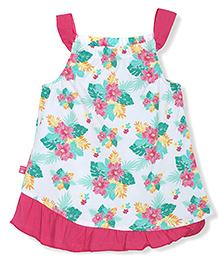 FS Mini Klub Singlet Floral Print Frock - Multicolor