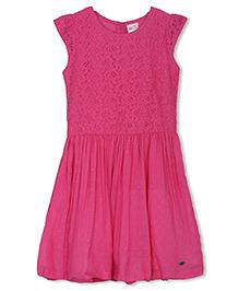 FS Mini Klub Short Sleeves Frock - Pink