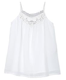 FS Mini Klub Singlet Top Sequin Detailing - White