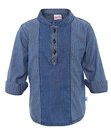 FS Mini Klub Full Sleeves Denim Shirt - Blue