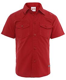 FS Mini Klub Half Sleeves Shirt - Red
