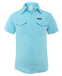FS Mini Klub Half Sleeves Shirt - Sky Blue