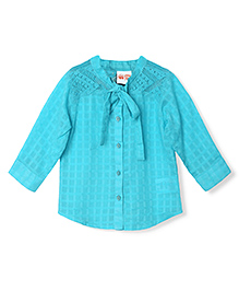 FS Mini Klub Full Sleeves Top Lace Detailing - Blue