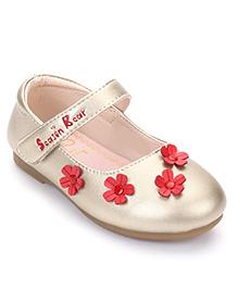 Season Bear Flower Print Sandal - Silver