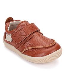 Season Bear Sporty Shoes With Strap - Brown