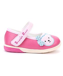 Season Bear Lovely Butterfly Print Shoes - Pink