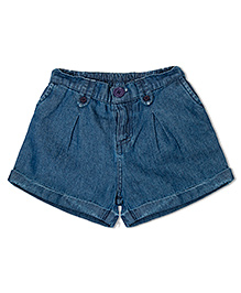 Soul Fairy Turnup Denim Shorts With Elasticated Back - Blue