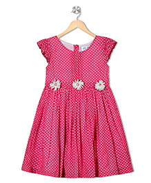 Soul Fairy Polka Printed Dress - Pink