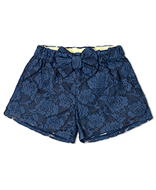Soul Fairy Lace Shorts With Bow - Navy Blue