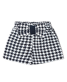Soul Fairy Houndstooth Printed Bow Shorts - Black