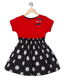 Soul Fairy Dress With Bow Applique - Red