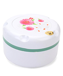 Cello Homeware Munch Insulated Hot Pot Lunch Box Big Rose Print - White